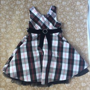 Jona Michelle Black and Red Plaid Holiday dress